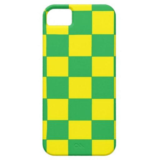 inspectores verdes y amarillos iPhone 5 carcasas