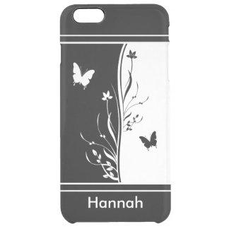 Inspi blanco y negro llamativo de la naturaleza funda clearly™ deflector para iPhone 6 plus de unc
