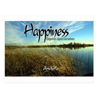 Inspiración -- Aristóteles y felicidad Postal