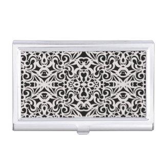 Inspiración barroca del estilo del tenedor de la cajas de tarjetas de presentación