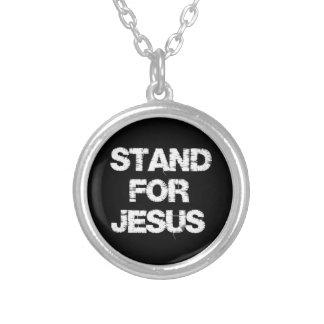 Inspiración cristiana: Soporte para Jesús Colgante Redondo