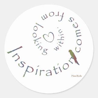 Inspiración de dentro etiquetas redondas