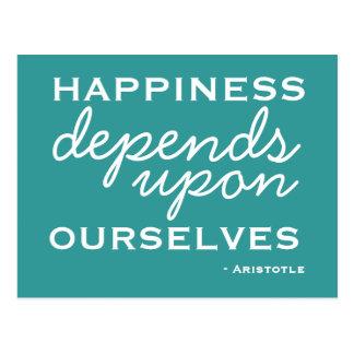 Inspiración de la felicidad - postal de motivación