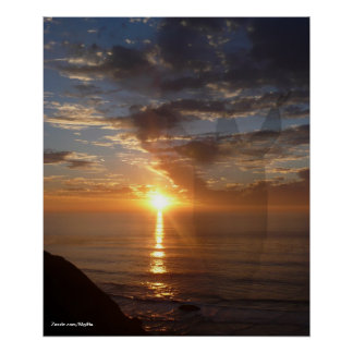 Inspiración de la puesta del sol poster