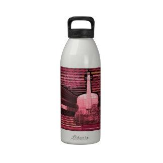 Inspiración del amor de la música botella de agua reutilizable