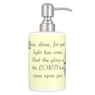 Inspiración del cristiano de la escritura de la set de baño