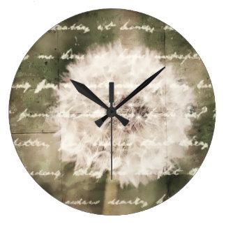 Inspiración del deseo reloj de pared