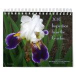 Inspiración del jardín calendario de pared