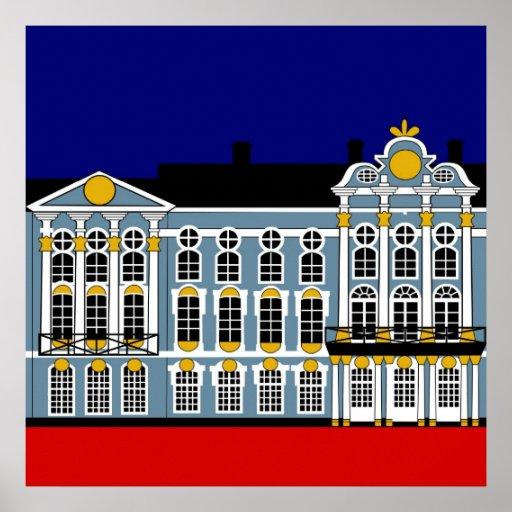 Inspiración del palacio de Catherine - St Póster