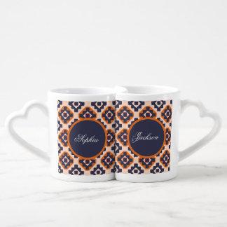 Inspiración del Zulú Set De Tazas De Café