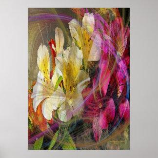 Inspiración floral impresiones