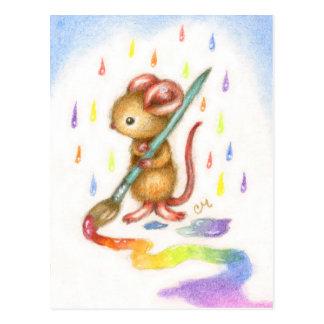 Inspiración - postal linda del ratón del artista
