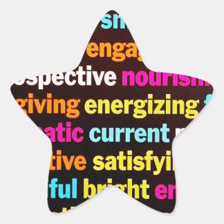 Inspiración y otras palabras pegatinas forma de estrella