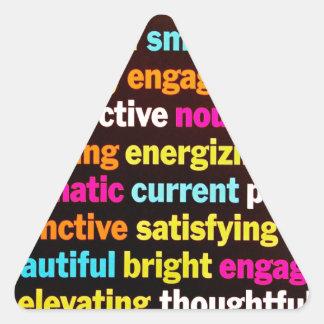 Inspiración y otras palabras calcomanía de triangulo