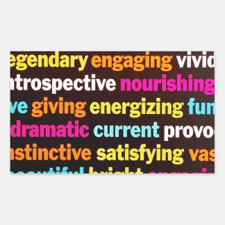 Inspiración y otras palabras rectangular altavoces