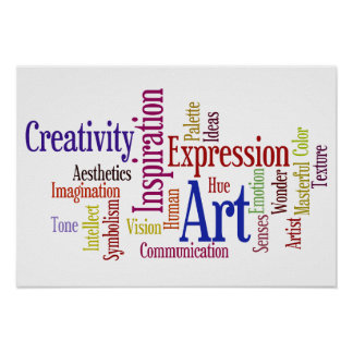 Inspiraciones artísticas - arte y creatividad póster