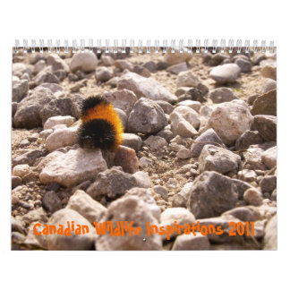Inspiraciones canadienses de la fauna calendario de pared
