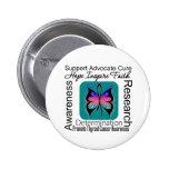 Inspiraciones de la mariposa del cáncer de tiroide pins