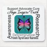 Inspiraciones de la mariposa del cáncer de tiroide tapete de ratón