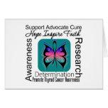 Inspiraciones de la mariposa del cáncer de tiroide tarjeton