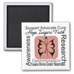 Inspiraciones uterinas de la mariposa del cáncer iman