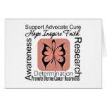 Inspiraciones uterinas de la mariposa del cáncer felicitaciones