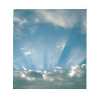 Inspiraciones y sueños de las nubes blocs de papel