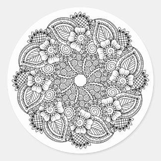 Inspirado alrededor de diseño pegatina redonda