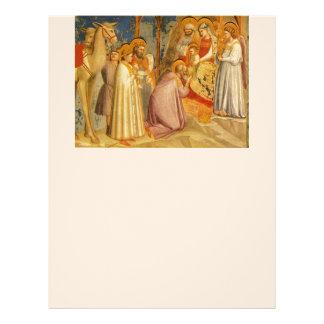 Inspirado-Biblia que bendice a Jesús de pintura fi Membrete Personalizado
