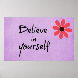 Inspirado crea en sí mismo la cita póster