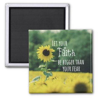 Inspirado: Deje su fe ser más grande que miedo Imán Cuadrado