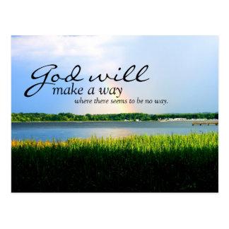 Inspirado: Dios hará una manera… Tarjetas Postales