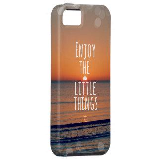 Inspirado disfrute de la pequeña cita de las cosas iPhone 5 carcasa
