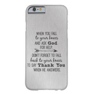 Inspirado gracias cita de dios funda para iPhone 6 barely there