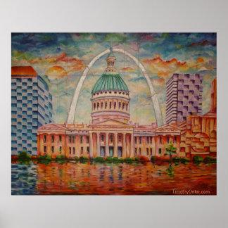 Inspirado por el St. Louis I - impresión de la lon Poster