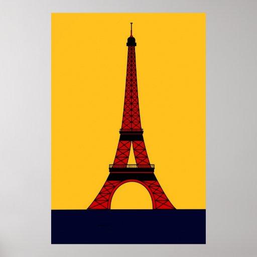 Inspirado por el viaje Eiffel Poster