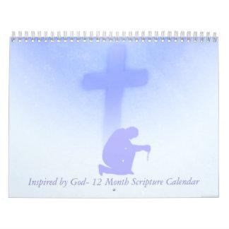 Inspirado por escritura de dios calendarios de pared