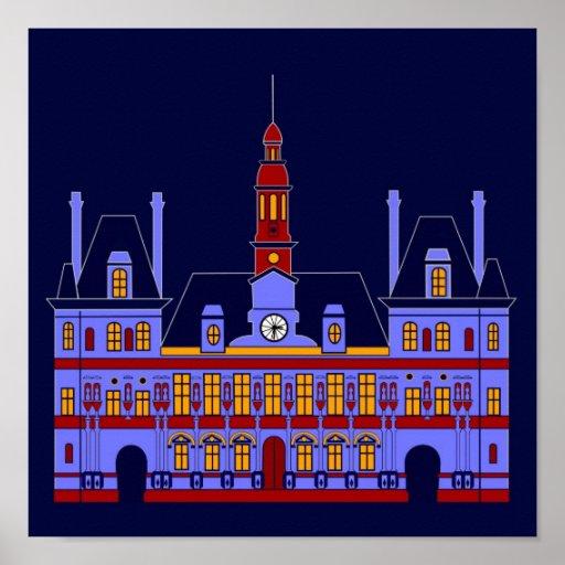 Inspirado por Hôtel de Ville (ayuntamiento), París Posters