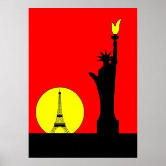 Inspirado por la estatua de la libertad en París Impresiones