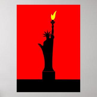 Inspirado por la estatua de la libertad en París Poster