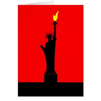Inspirado por la estatua de la libertad en París Felicitación