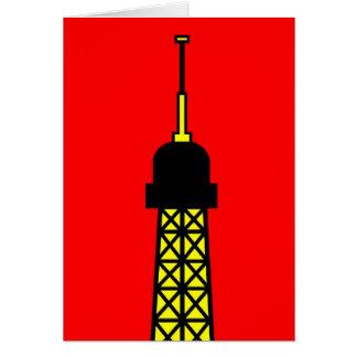Inspirado por la torre Eiffel Tarjeta De Felicitación