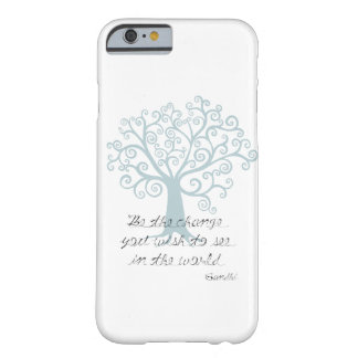 Inspirado sea el árbol del cambio funda de iPhone 6 barely there