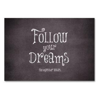 Inspirado siga su cita de los sueños