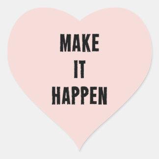 Inspirados rosados hacen que sucede pegatina en forma de corazón