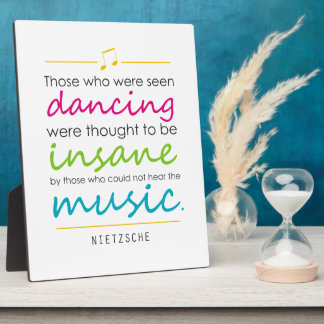"Inspirando a ""los que eran baile visto"" Nietzsche Placas Con Foto"