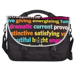 Inspiration and other words commuter bag