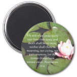Inspiration and Strength Bible Verse Revelation 21 2 Inch Round Magnet