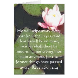 Inspiration and Strength Bible Verse Revelation 21 Card