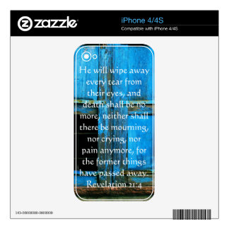 Inspiration and Strength Bible Verse Revelation 21 iPhone 4 Skins